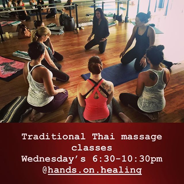 Next class announcement: 20-hour Thai Massage on mat , at Hands on Healing Institute in Tujunga, California. This class will be on Wednesday evenings from 6:30-10:30pm. Dates are: 10/2, 10/9, 10/16,10/23, 10/30. Early bird pricing is $330, for more info please visit the calendar at www.gotohhi.org. ✨✨✨🙏🏼🙏🏼....................................................................................................................................#thaimassage #massageclass #continuingeducation #yoga #thaiyogamassage #massage #massagetherapy #tujunga #losangeles #massageschool #massagelife #massagemagazine #ncbtmb #massagetherapist #ceus #thaiyoga #bodywork #deeptissuemassage #beginnersmind