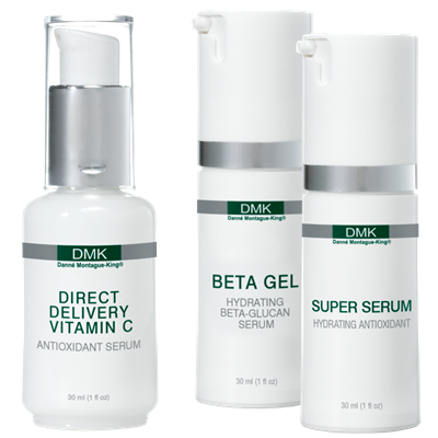 SERUMS   Potent, vitamin-enriched direct delivery serums designed to lift your skin in key areas where most needed