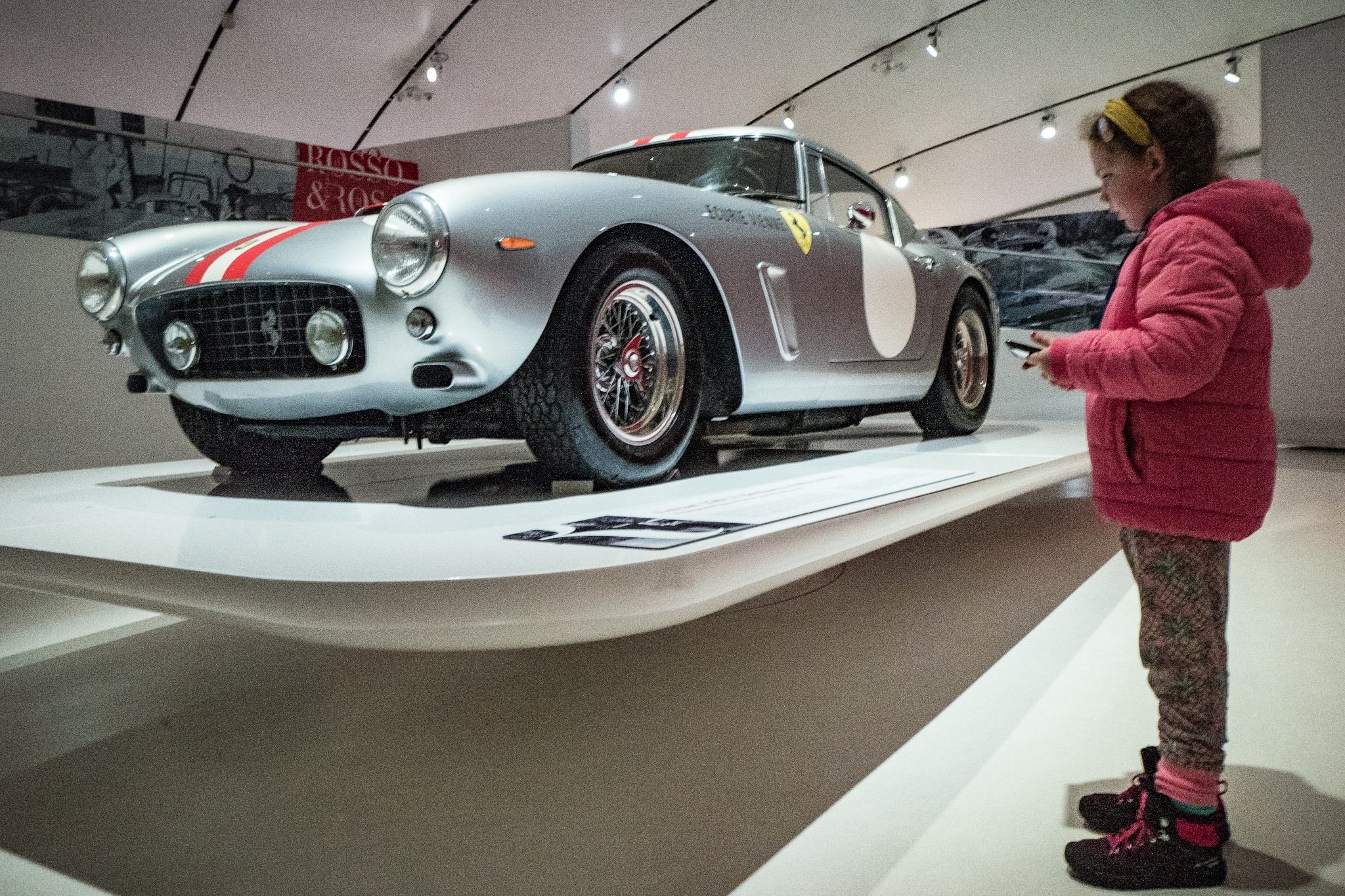 Audrey directing us around the Ferrari Museum on the iPad
