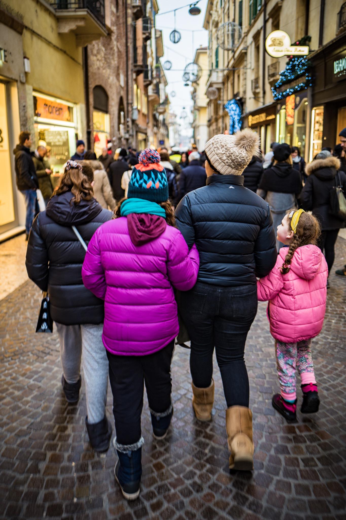 Exploring Verona streets and alleys