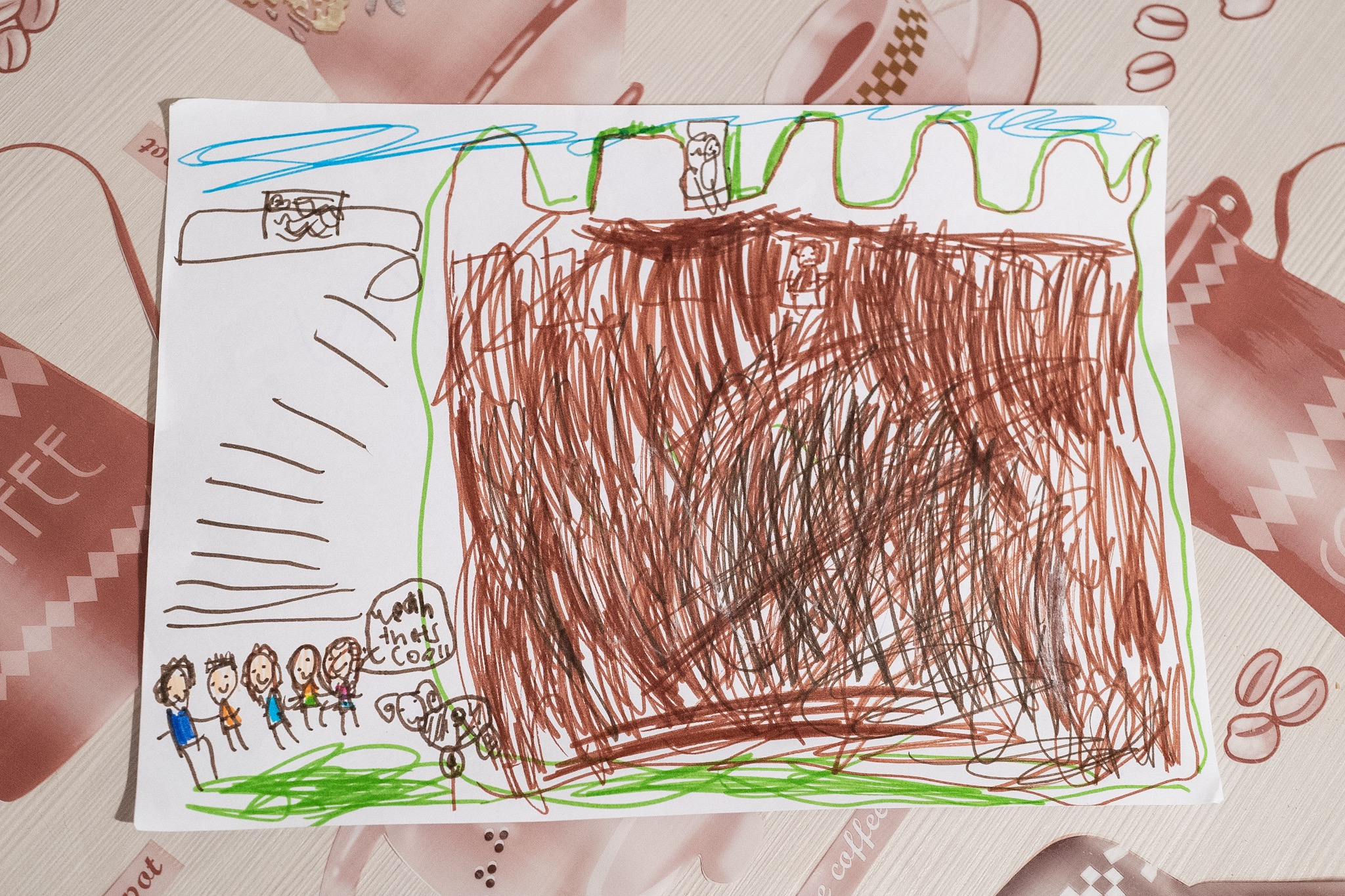 Audrey's drawing of the castle at Monteriggioni, quite accurate!