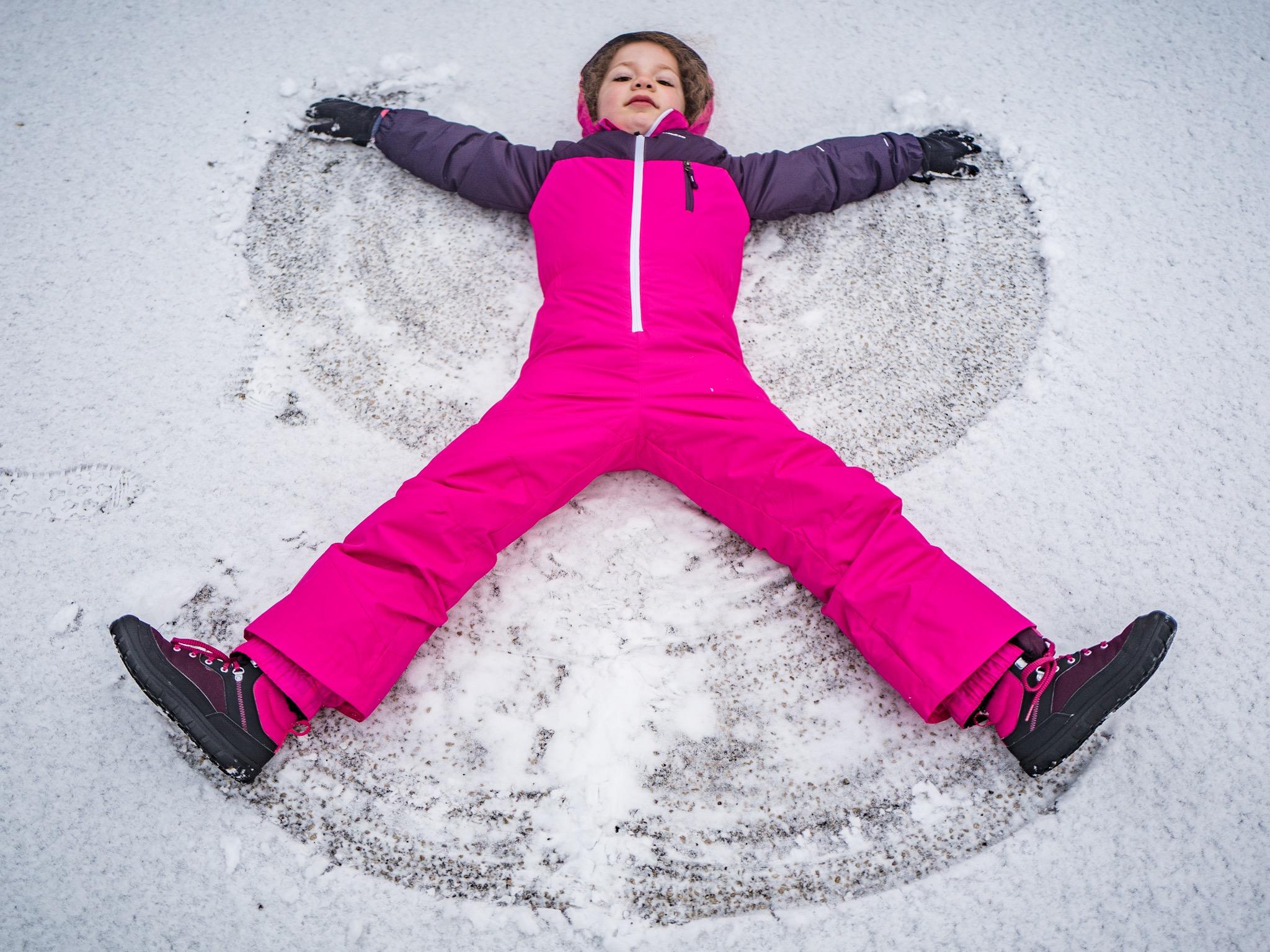 Audrey's snow angles…