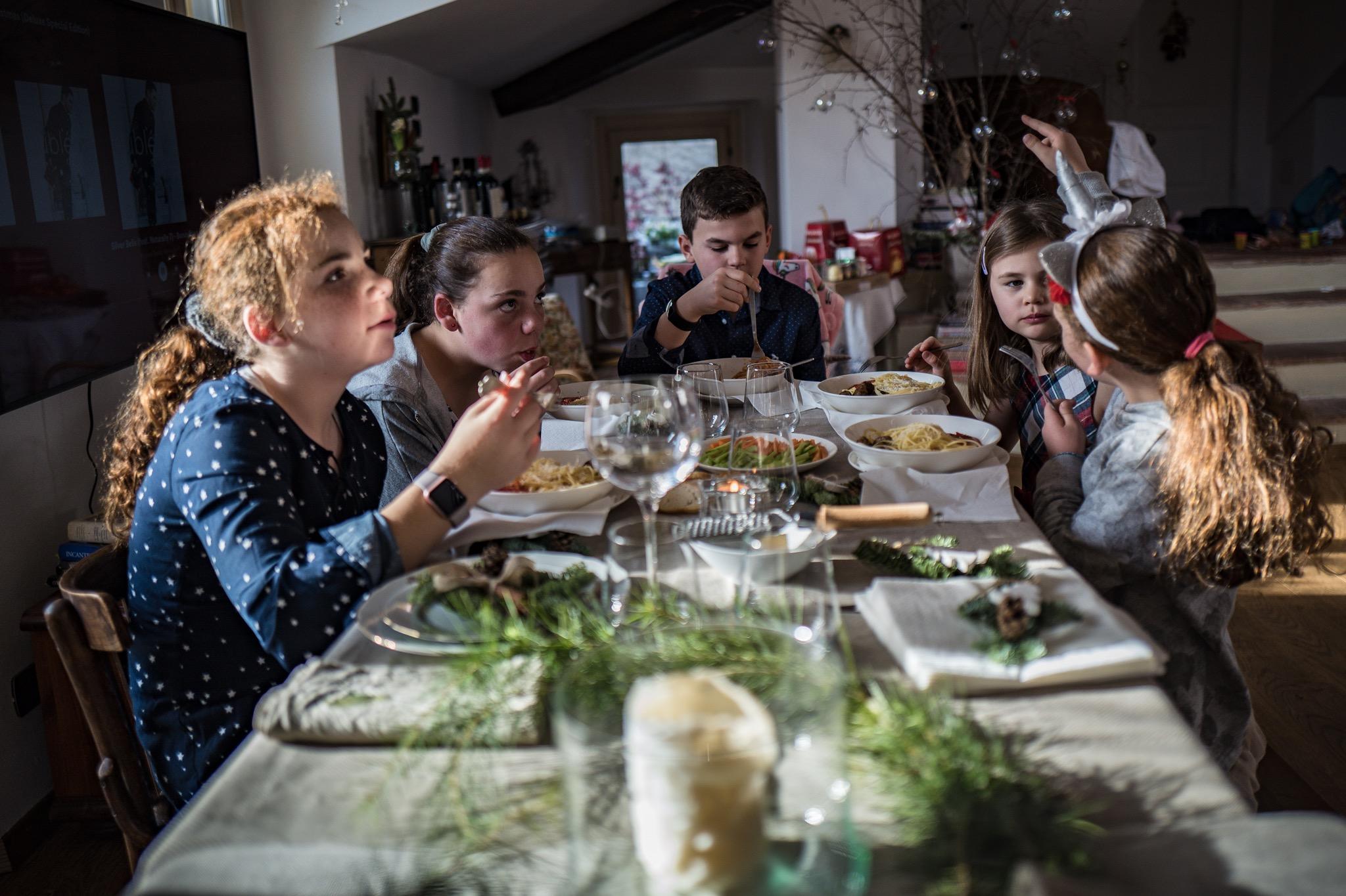 Kids pasta course Xmas Eve