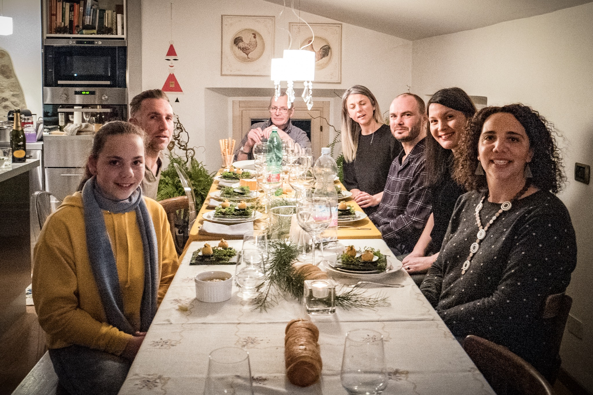 And the Xmas table, sitting down for one of the many meals on Xmas Day.