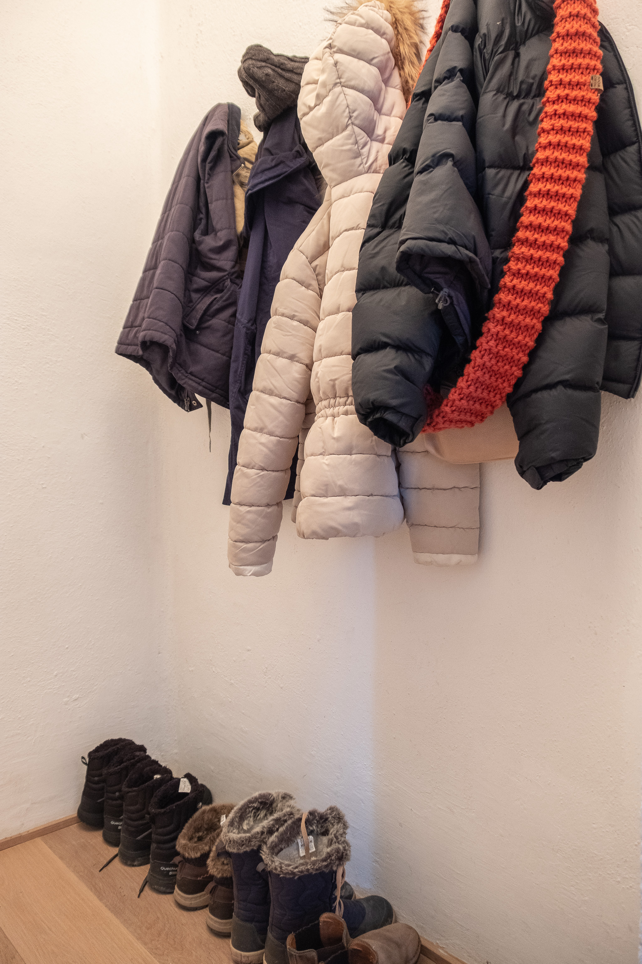 Loving our winter coat rack and boots by the front door, never had one before!