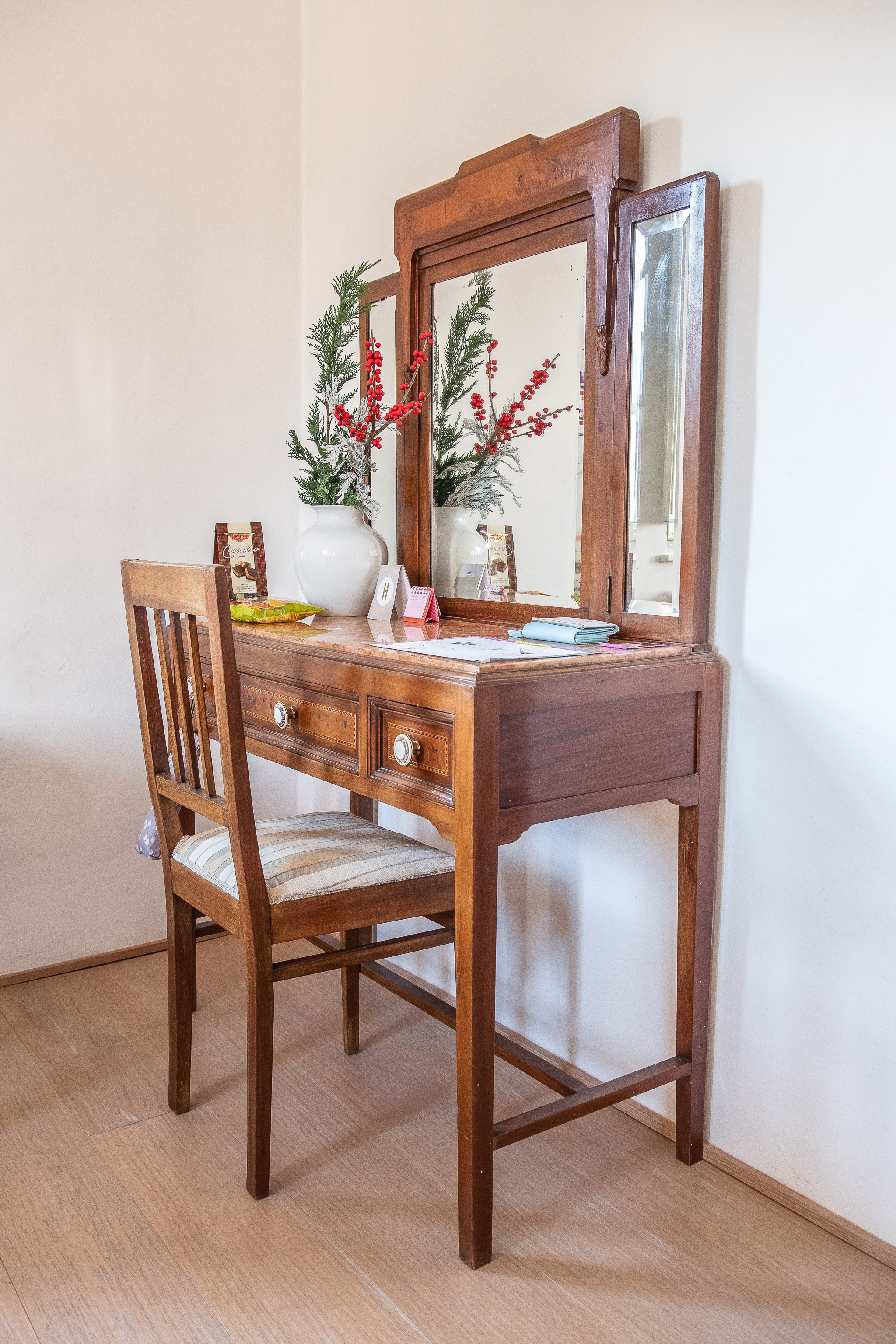Hayley's dressing table….