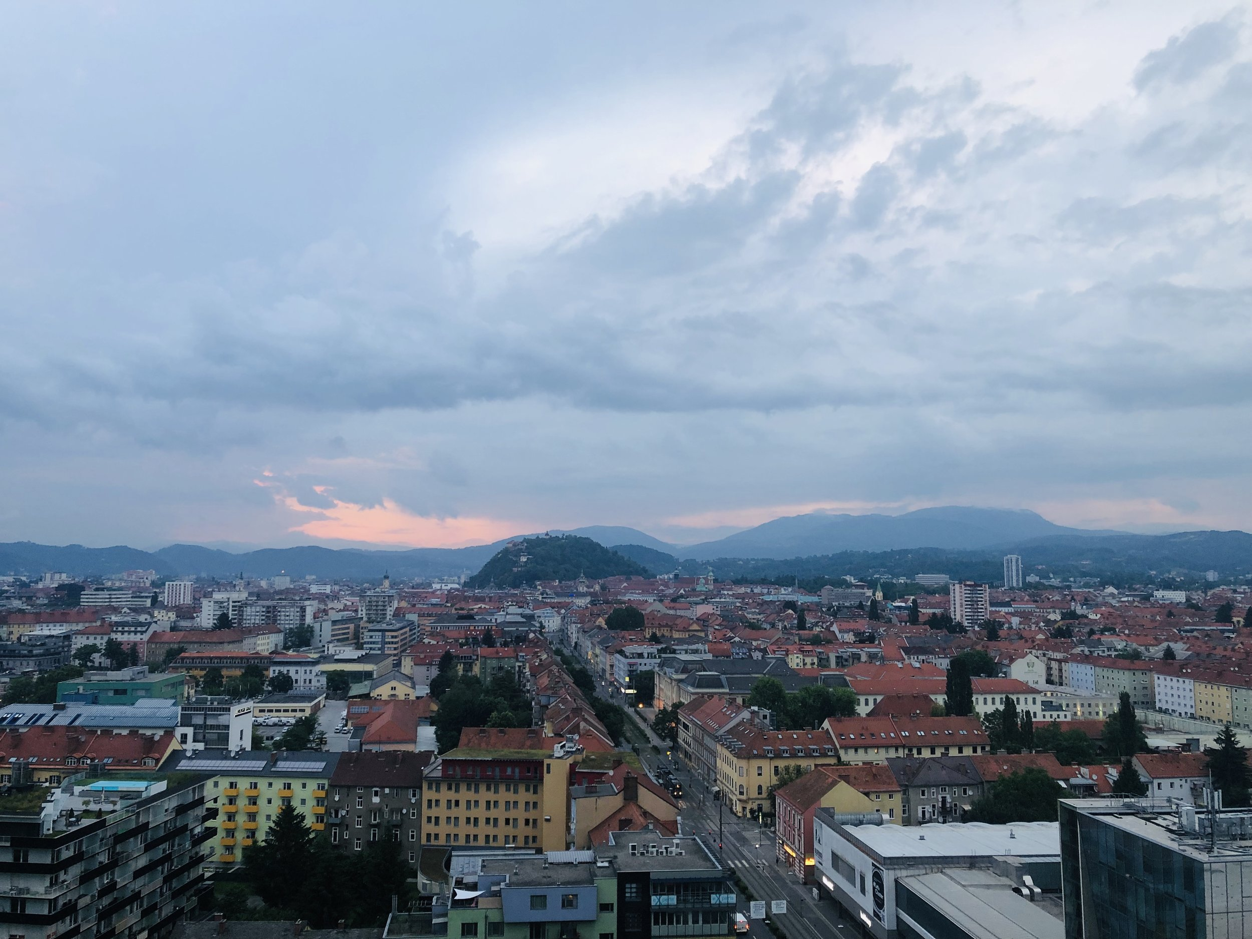 View of Graz at the opening party