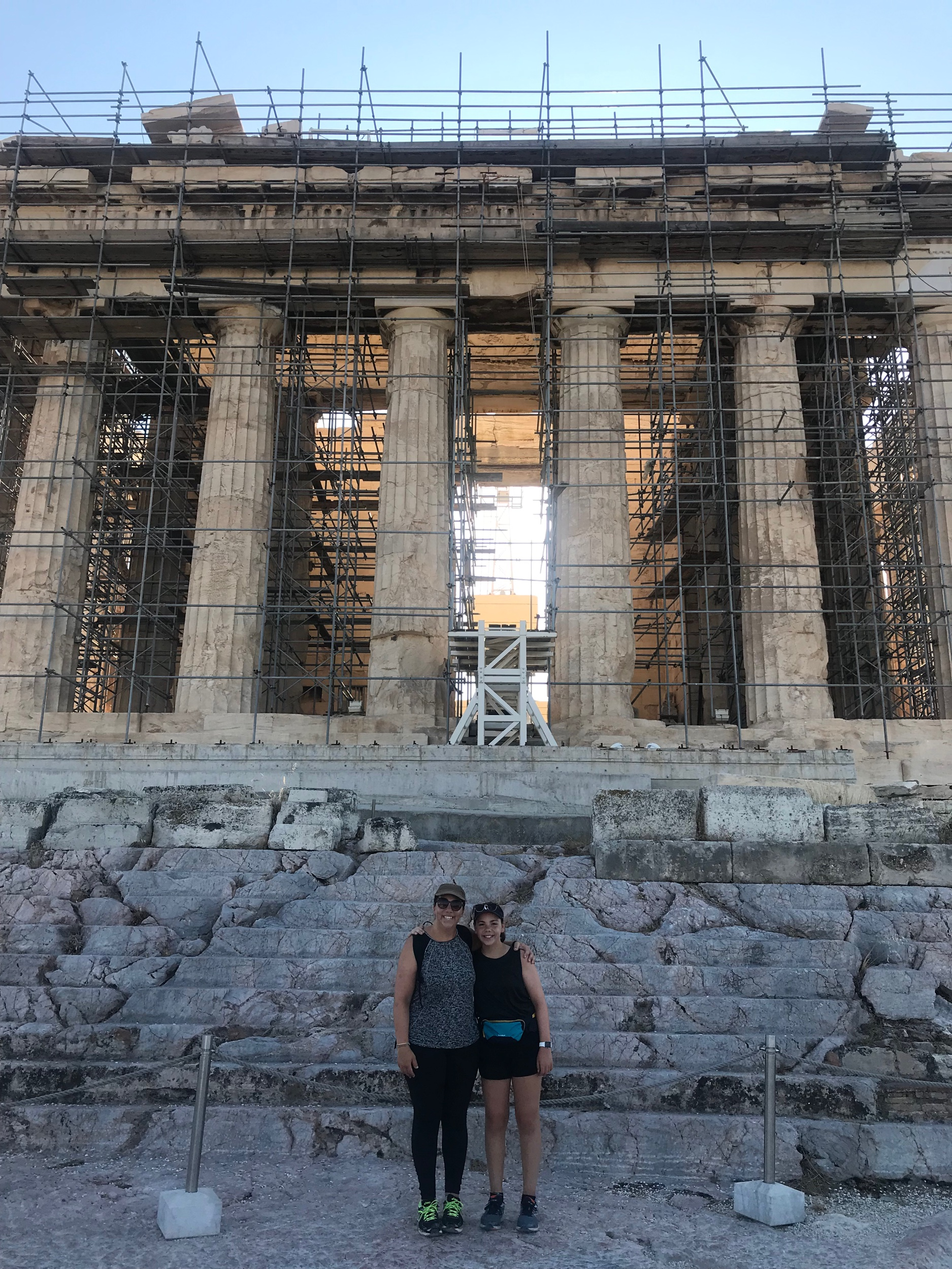 Day 30: Athens; The Acropolis, Plaka, Marousi - This morning, Mum and Dad woke us up at 7:00 am, and told us that we're having a 'historical day'. After we had breakfast in the apartment, we packed our bags, and booked an Uber. At 8:00, we drove just 5 minutes to the Acropolis, where we walked around panthanon, and all the old ruins. Audrey and I found it interesting, however Polly not so much, even though she's the one who's into Greek mythology. Then, we walked 10 minutes to the town of Plaka. Mum and dad sat in a cafe, while Polly, Audrey, and I walked around town, in and out of shops. By 1:00pm, we were all hungry, so we decided to walk a few minutes to an amazing Mexican restaurant (which was my choice)! The food was surprisingly amazing, due to the fact that we're in Athens, Greece. After lunch, we walked around the shops a bit more, and then walked directly to a shopping mall that mum found online. We finally got there after walking 20 minutes in 30 degree heat, to find an open-air mall with about 2 shops. We we all so hot and grumpy by this point, that we researched other shopping centres to go to. We found a massive one about a 25 minute drive away, so we flagged down a taxi, and drove to the centre in Maraosi. It was huge, and modern, with heaps of shops. Dad and Audrey hate shopping, so sat in a cafe while Polly, mum and I walked all around the shops. After walking around for 2 hours, we were exhausted and ready to leave, so we hopped in a cab, and were home, within half an hour. When we arrived home, we cooked up a batch of scrambled eggs, and ate dinner, in front of the TV.