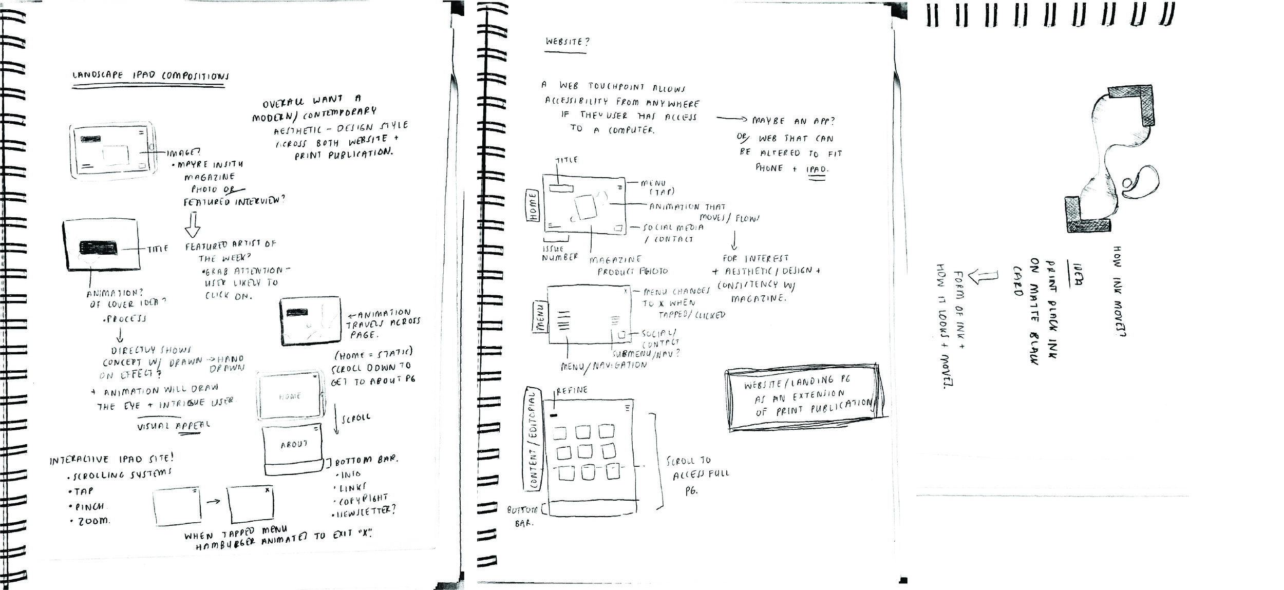 iPad composition sketches/ ideation from process workbook