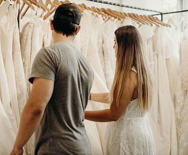 A G O R G E O U S B R I D E We spent an afternoon with @makenalautner & her brother, man of honor, @taylorlautner, trying to find the perfect dress for her magical wedding next year! So excited for her and @mrjbmoore ! Can't wait to share this special day with them!