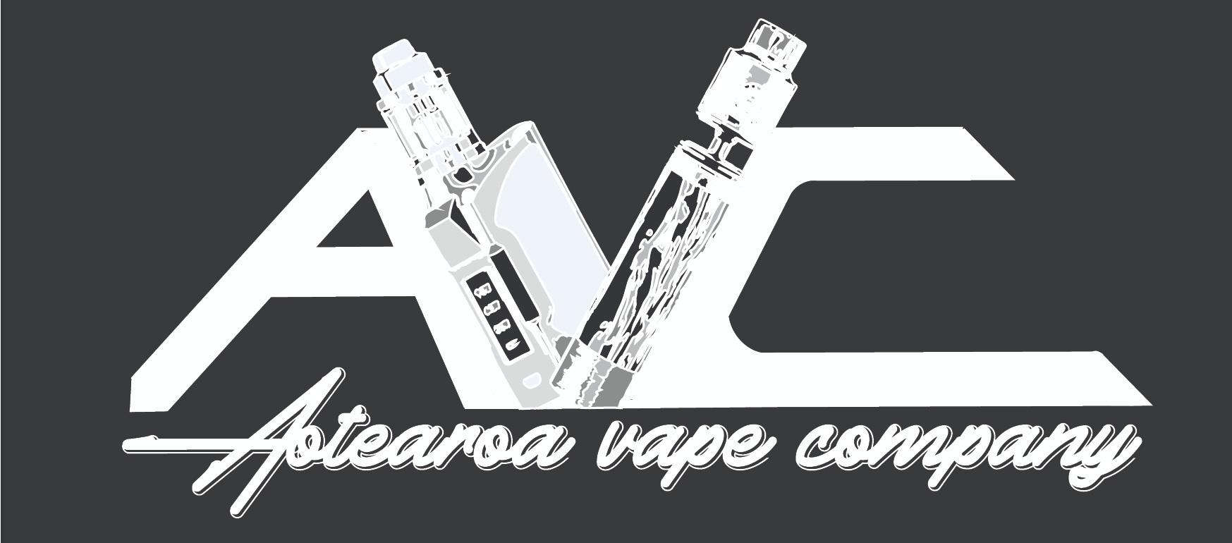 Aotearoa Vape Company - White on black logo