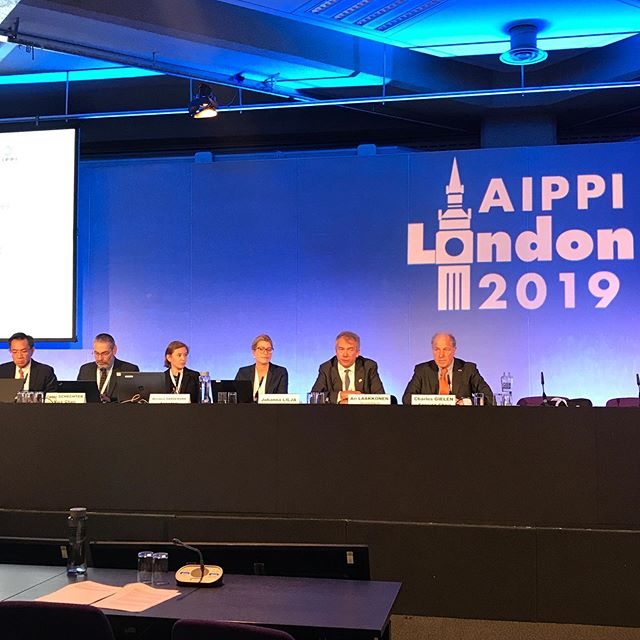 Wendela Hårdemark secretary for the draft resolution on IP damages💥 #aippi #london #ip #damages #