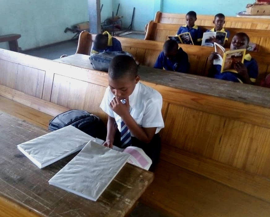 Deep in thought - here are some of our students reading their chosen books.