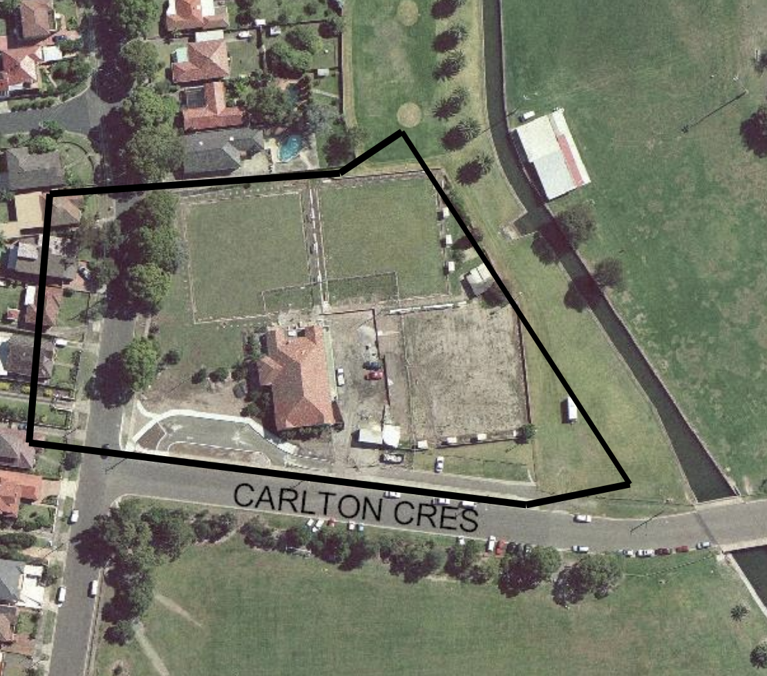 Site of the previous Carss Park Bowling Club