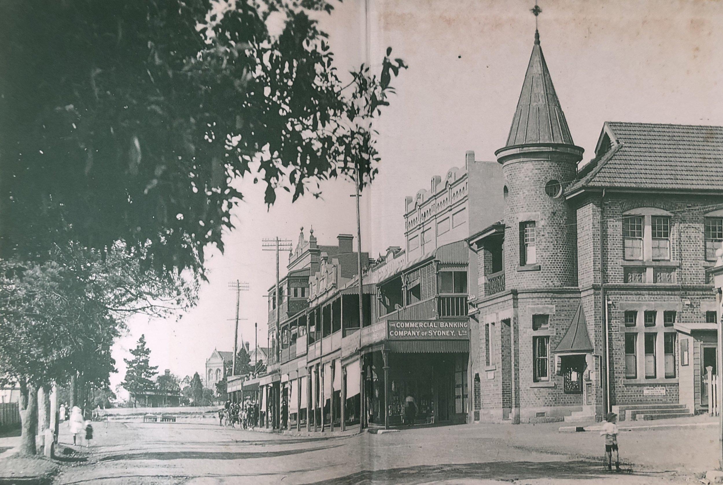 Original Post Office, Railway Pde Kogarah. Pic  River, Road and Rail, a History of Kogarah Municipality