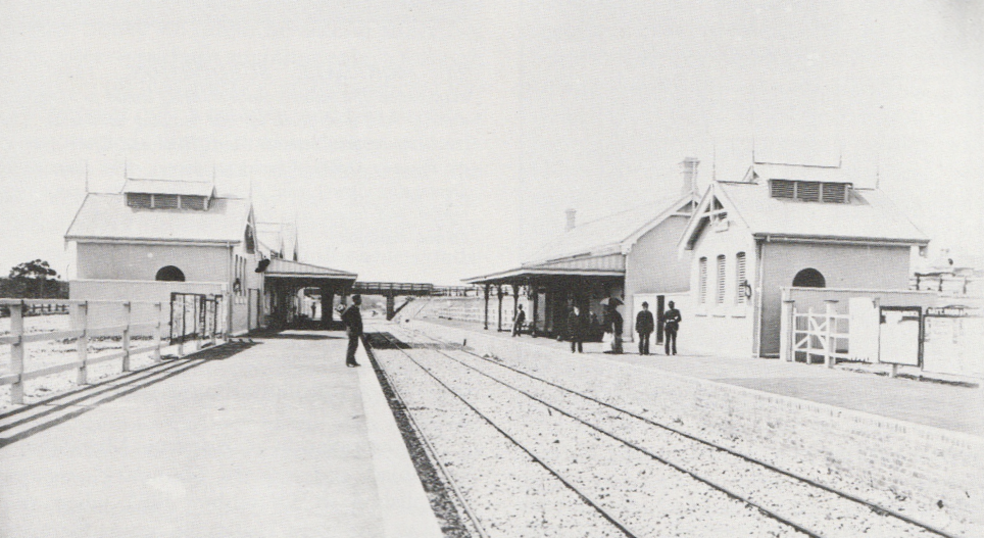 Kogarah Railway Station, 1884. Taken soon after the opening of the Railway. Pic  River, Road and Rail, a History of Kogarah Municipality