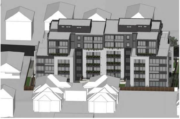 Proposed 7 storey residential building in Wyuna St, Beverley Park, adjacent to single storey dwellings
