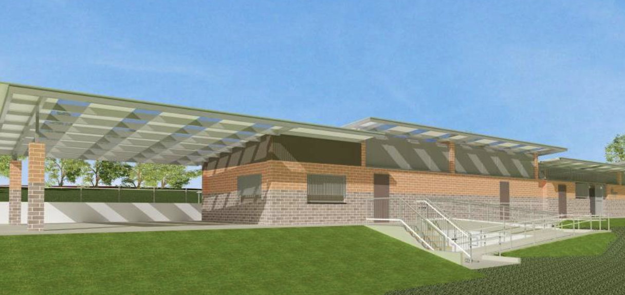 An artist's impression of the proposed amenities block to be built at Charles Pirie Reserve.