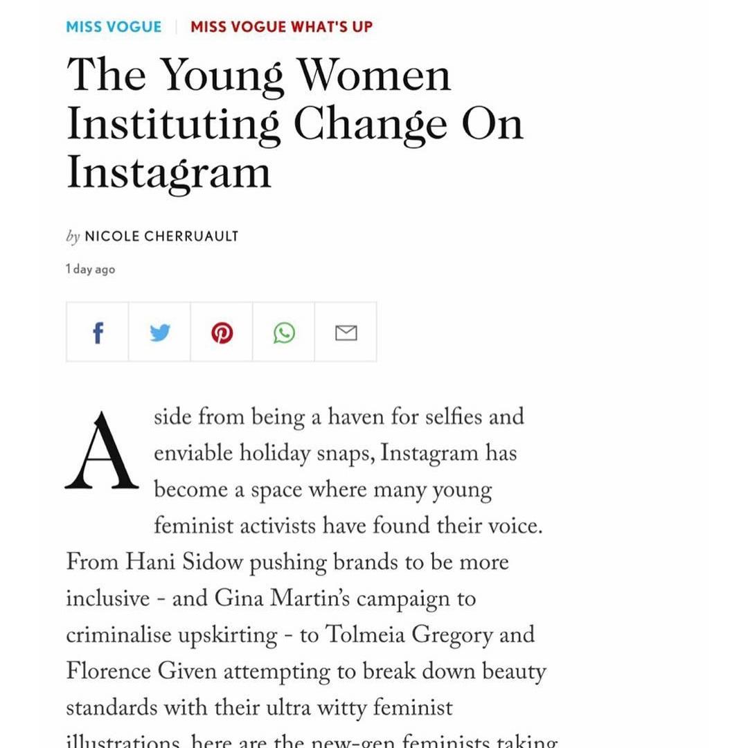 Feature on British Vogue