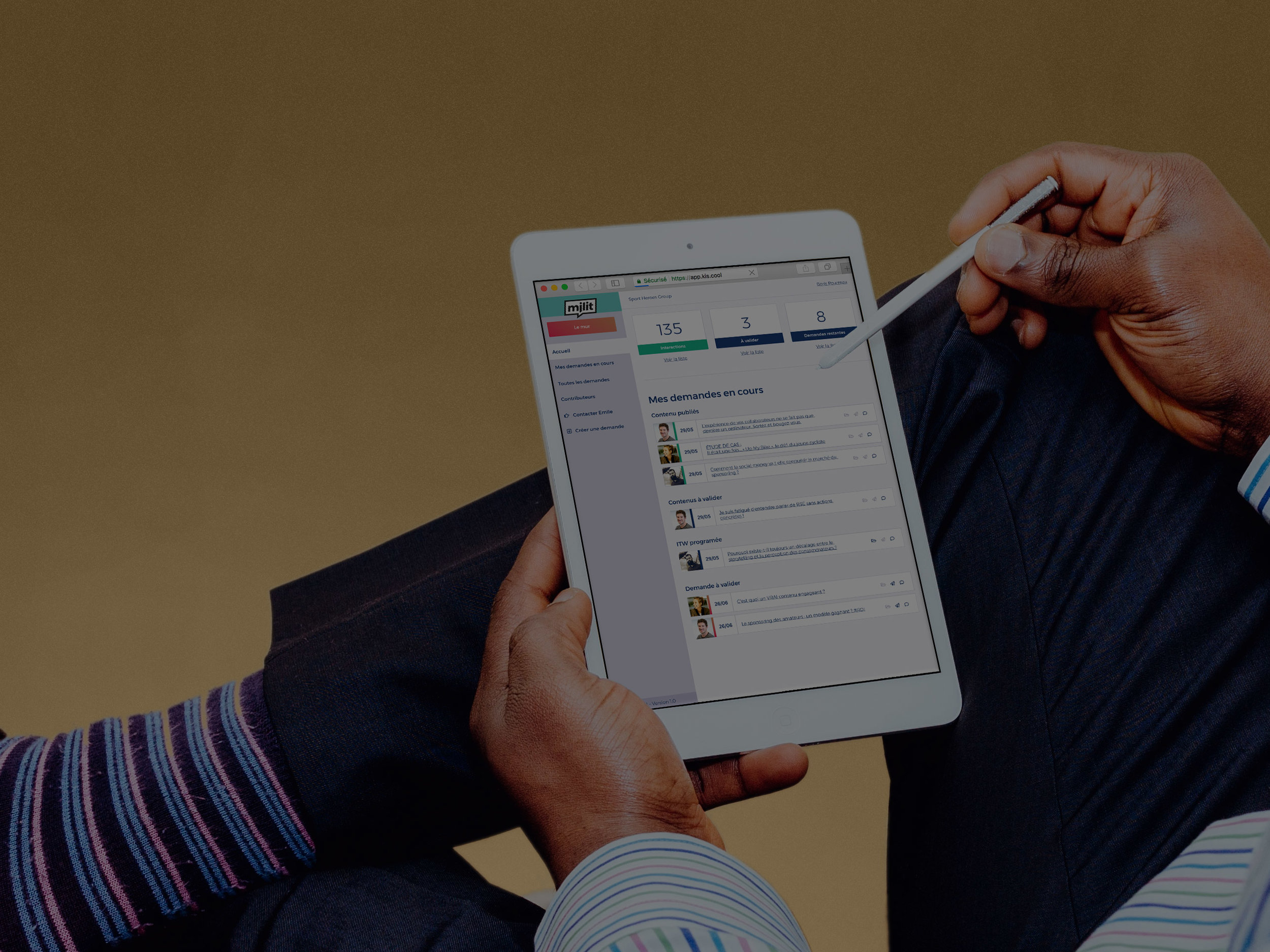 Notre plateforme permet de suivre ta quantité de travail et d'interagir avec les dirigeants pour qui tu écris -