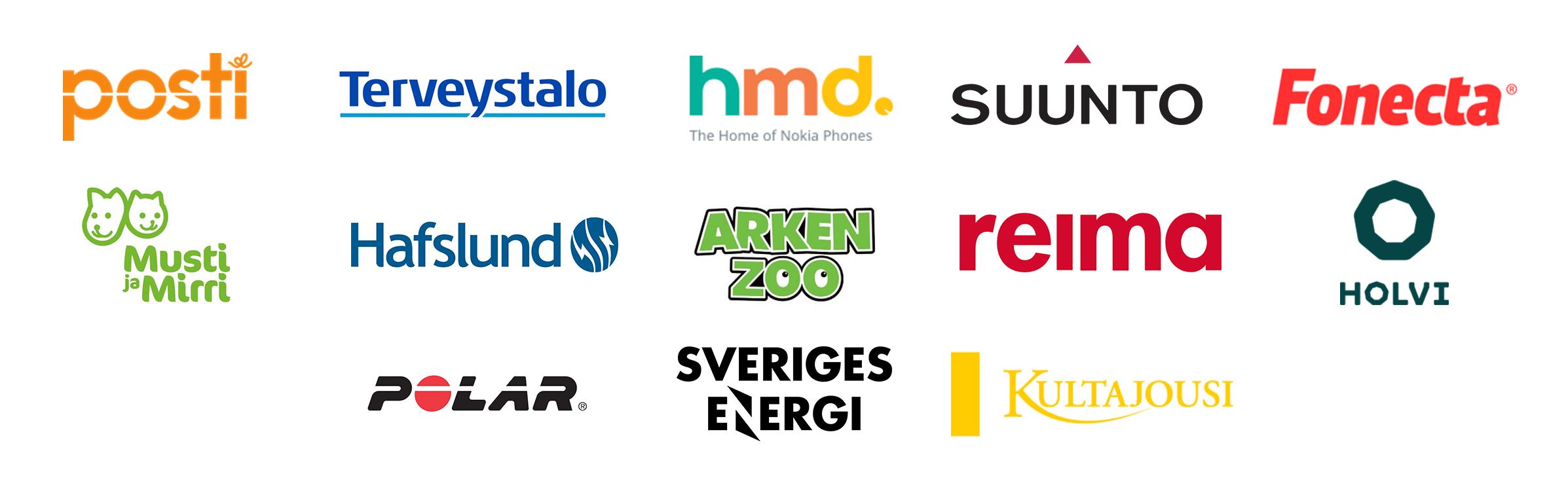Suunto, Fonecta, Terveystalo, Hafslund och Sveriges Energi