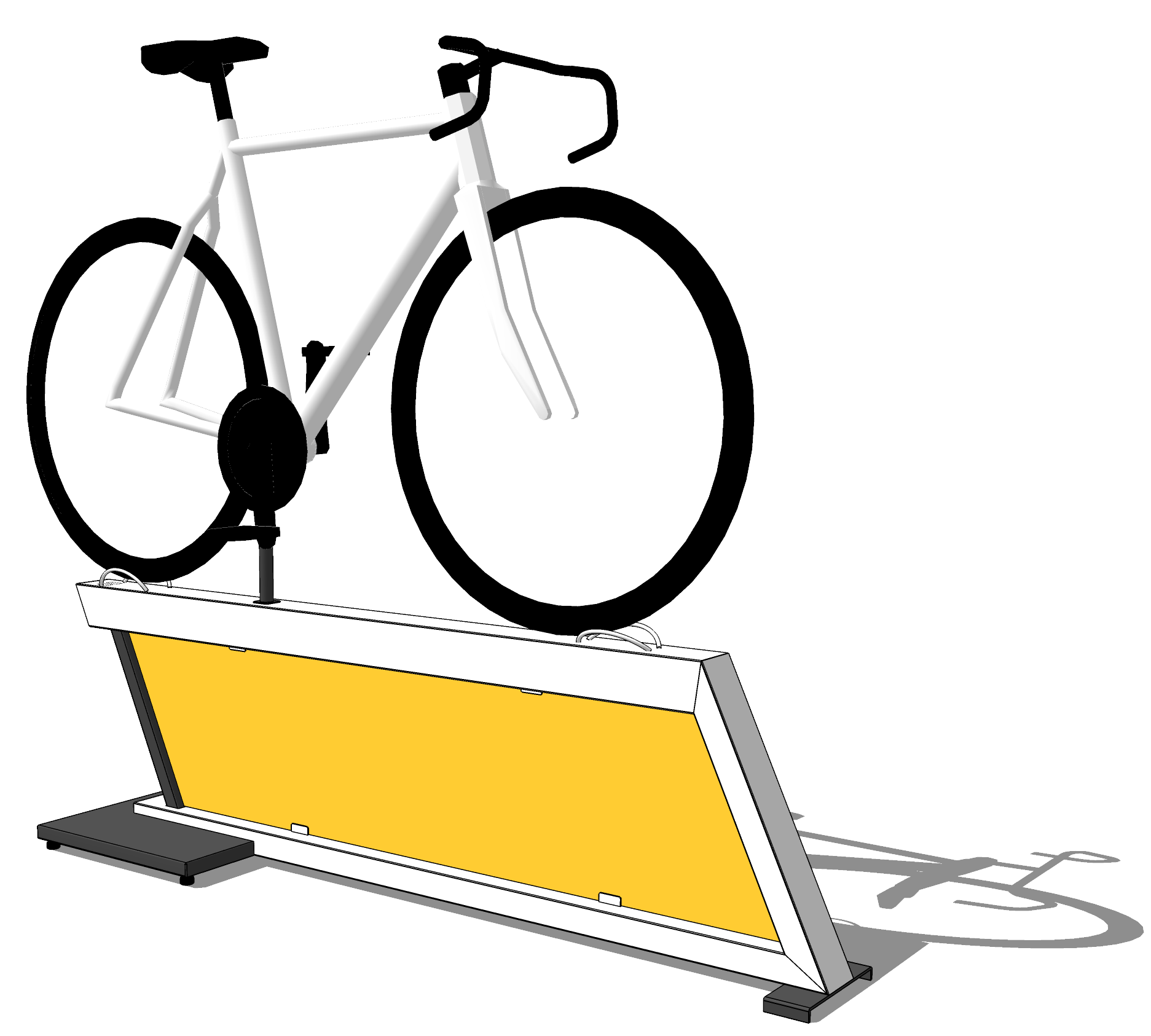 HEROBASE - Our Hero Base is fresh-looking, modern, and offers 360 degree visibility and is compatible with almost every bike on the market. With the option of holding customized graphics, this is the perfect stand for displaying feature bikes within your store.