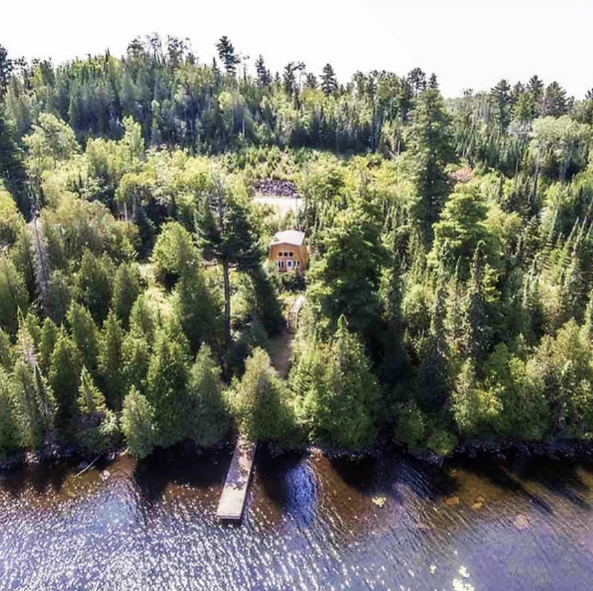 An aerial view of the Lutsen Foxhus On Caribou.   Photos courtesy of The Fox Hus