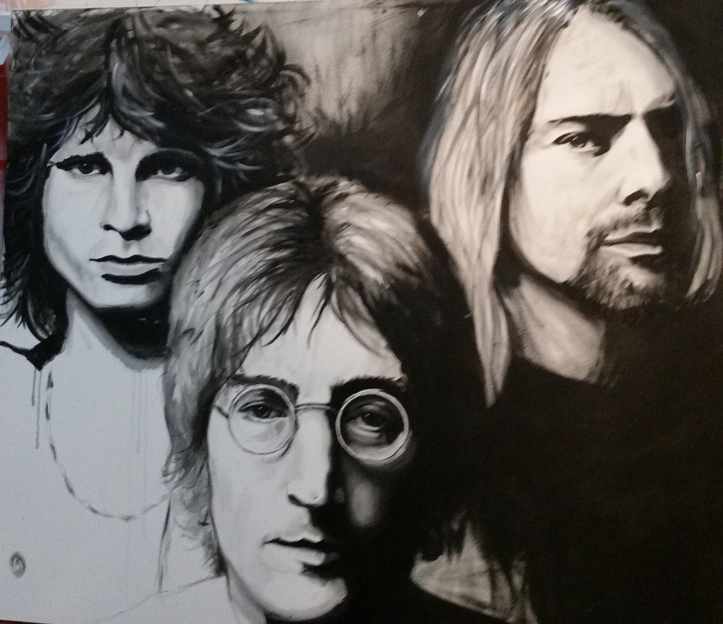 Jim Morrison ,John Lennon, Kurt Cobain