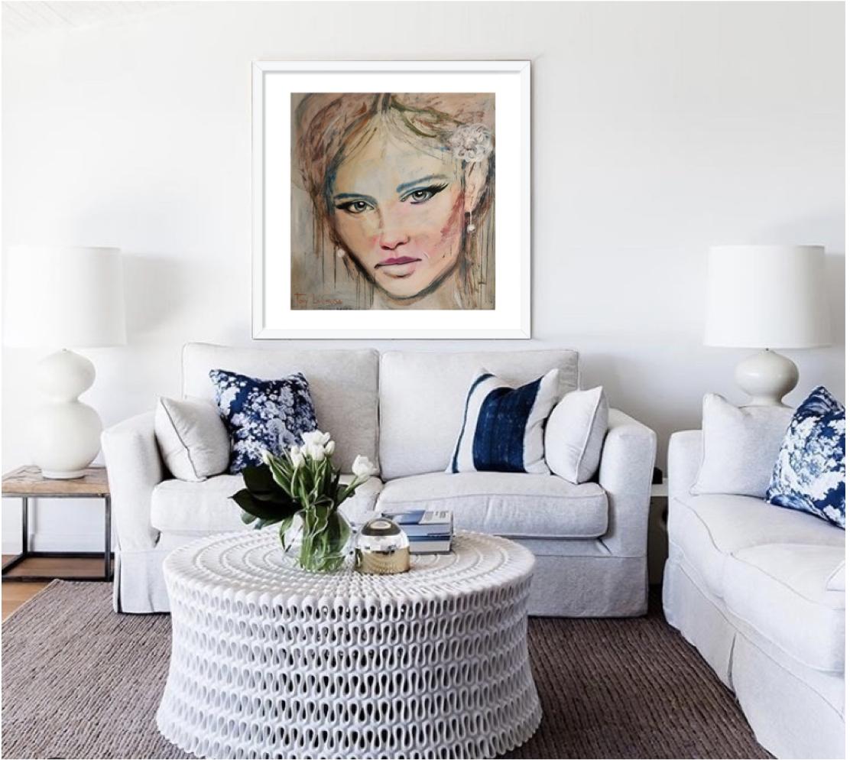 Hope Framed Print 70cm x 70cm in your choice of Black , White or Oak frame from $880