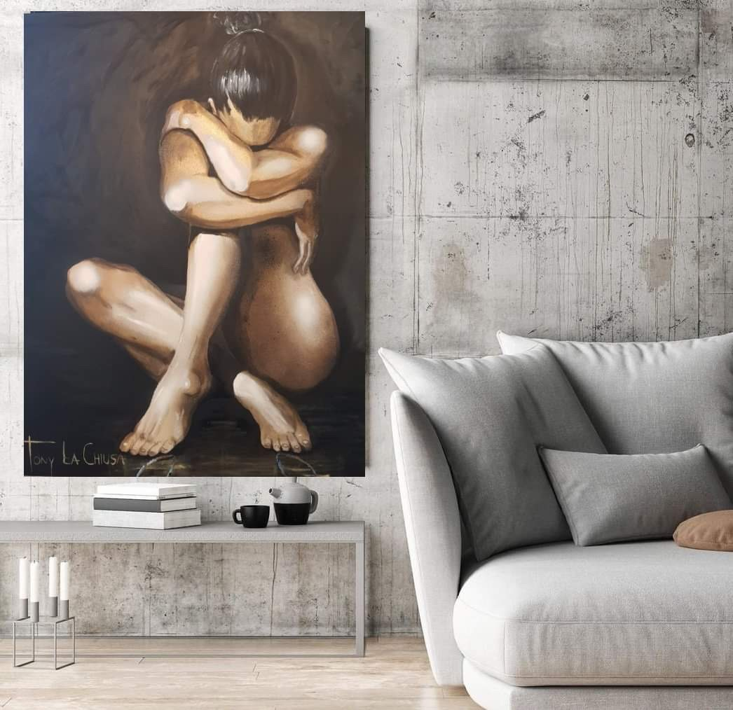 Strength in Thought Original Acrylic on Canvas Painting - 117cm x 117cm - $1700