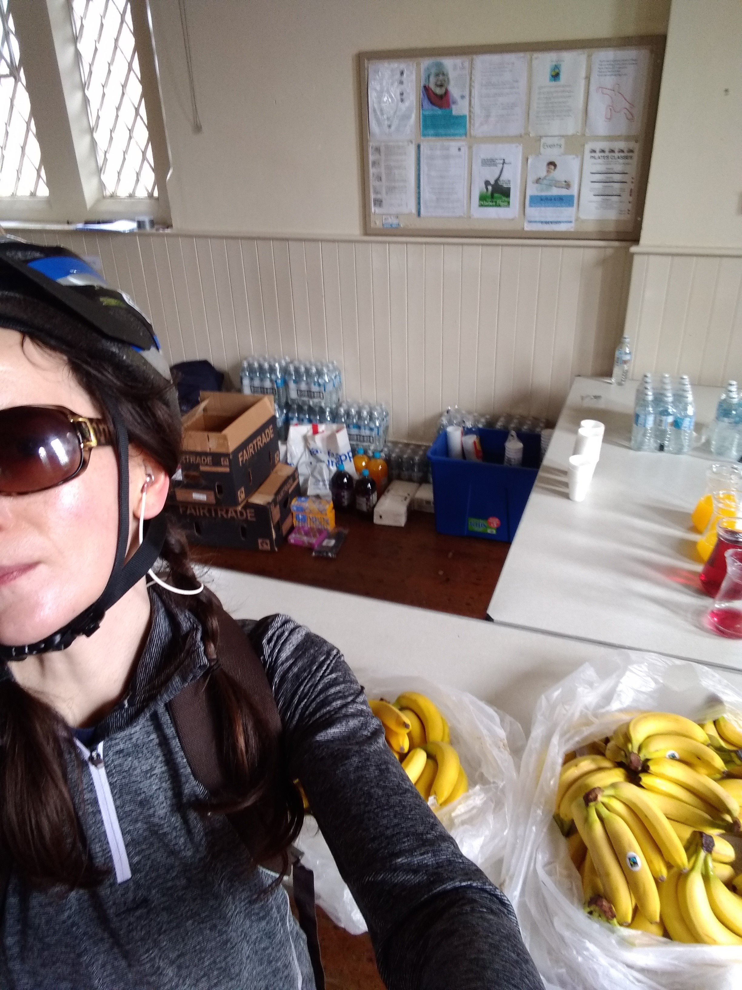 """I've never been so glad to see a banana!"" - Hayley Gibson, rider for TeamCHAC"