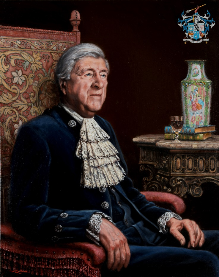 The High Sheriff,  Oil on linen, 28 x 42 in, Commission