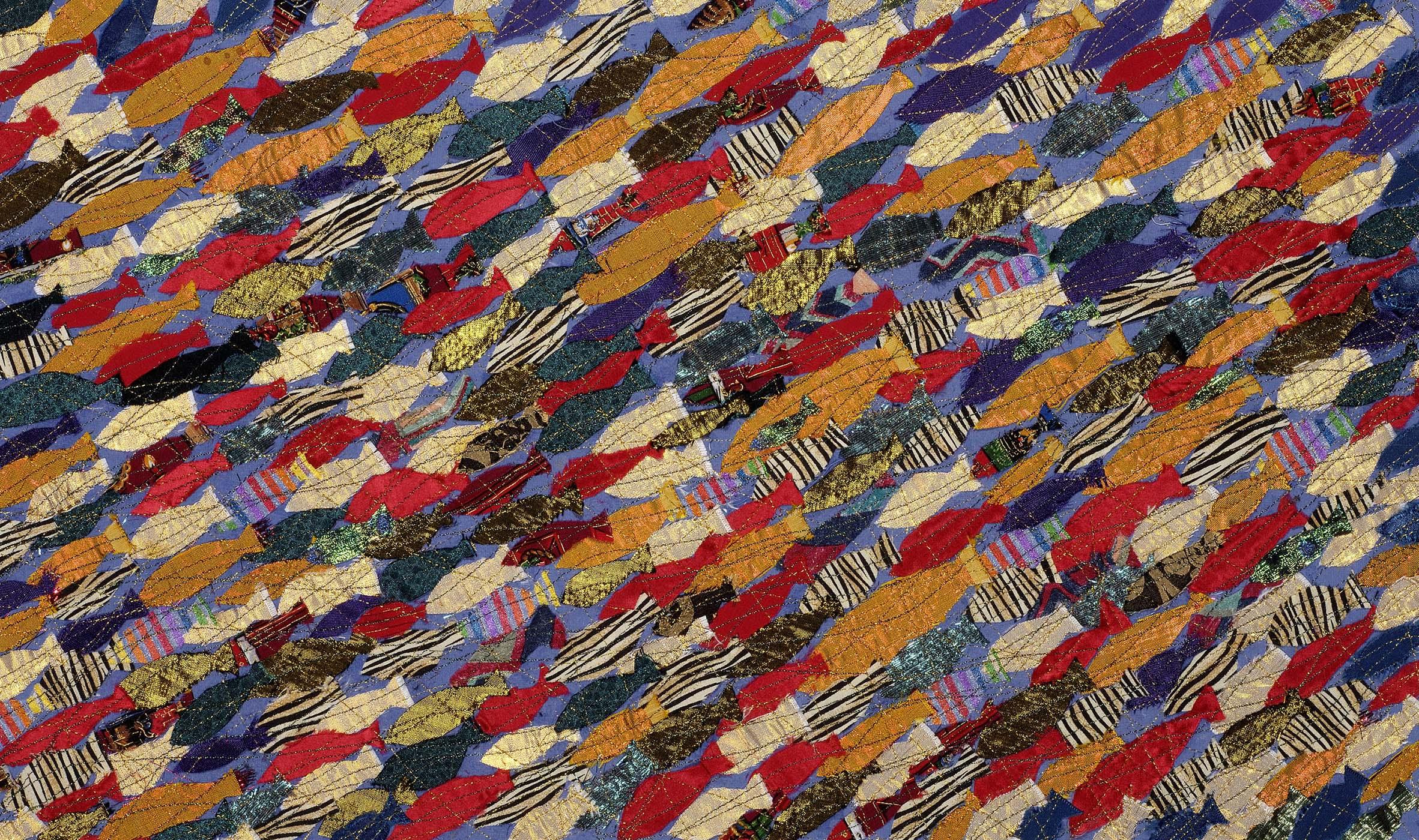 Tropical Fish Panel , Textile, 102 x 76 cm