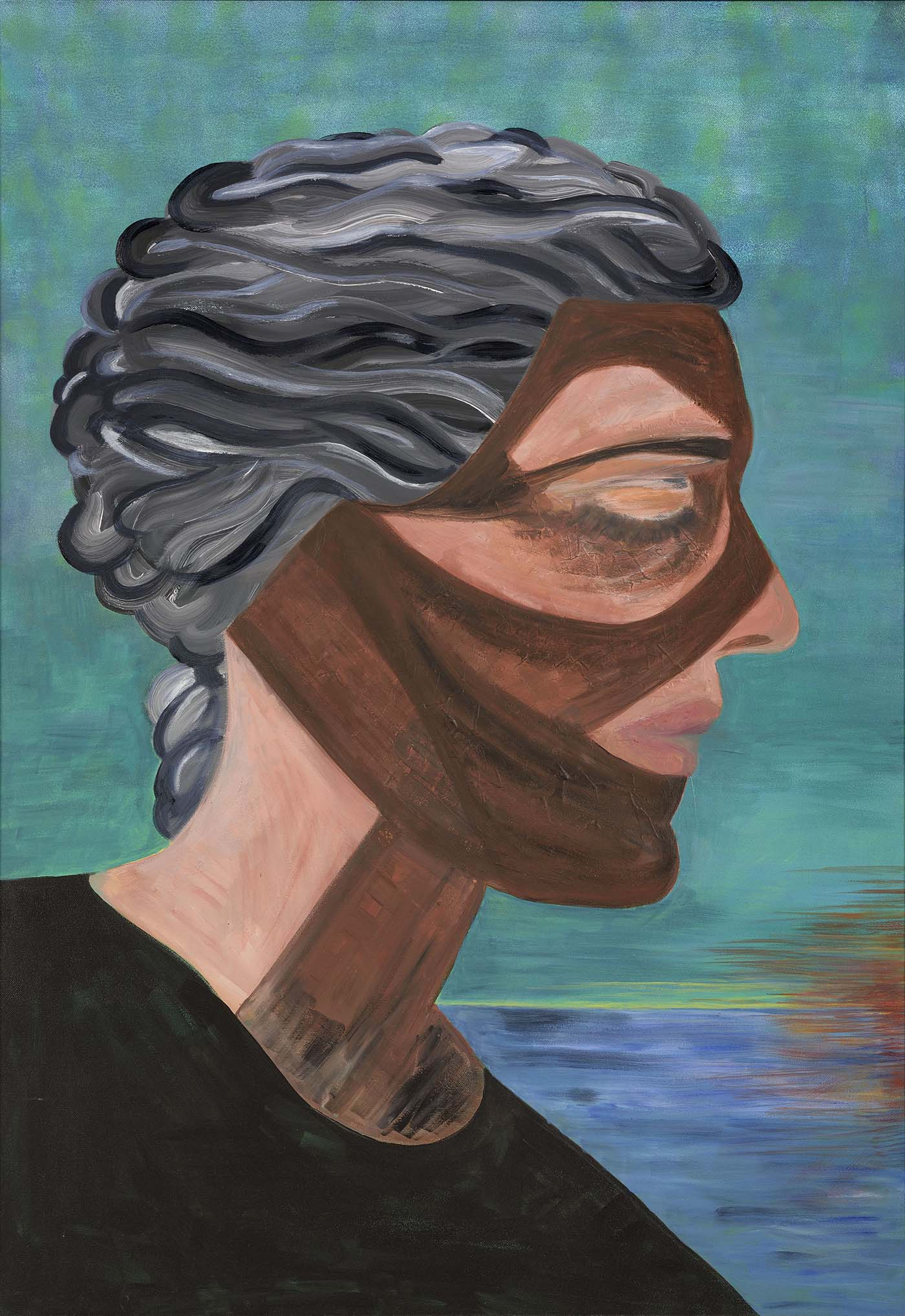 Portrait of Grace, the Suffering of Women at a Time of War, Oil and acrylic on canvas, 122 x 92 cm