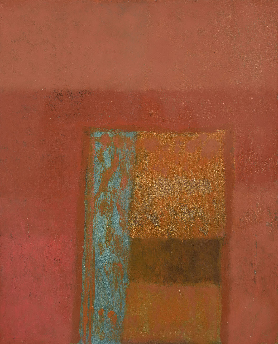 Bruce Killeen (1926-2014)    Viridian and Rust,  c.1977, Oil on board, 21 x 17 in  [CAS 30] Acquired in 1977