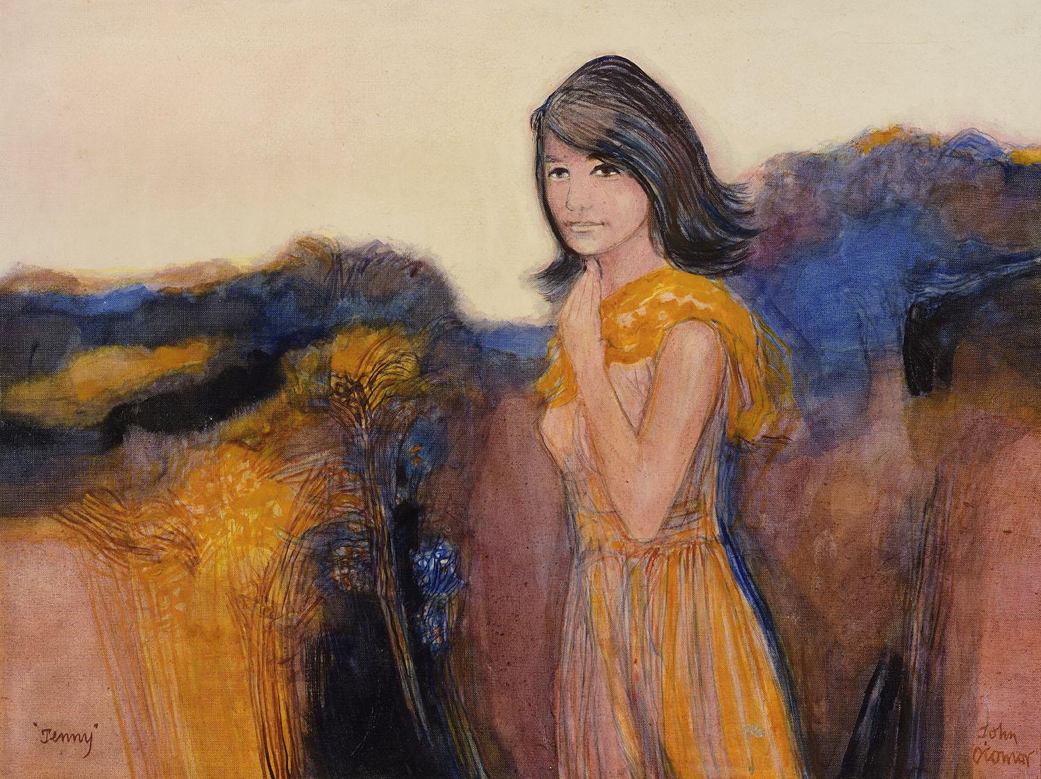 John Scorror O'Connor RWS, ARCA (1913-2004)    Jenny Bone,  c.1968, Oil on canvas, 30 x 40 in, Signed  [CAS 61] Donated by Geoffrey Bone in 2003