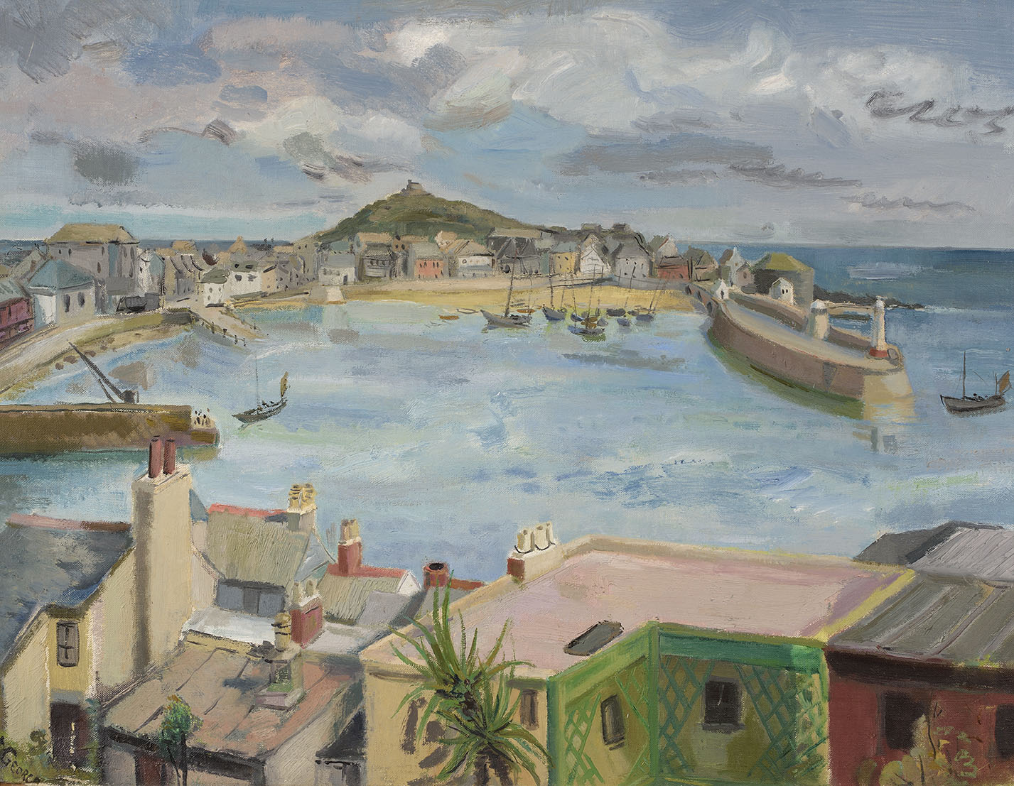 Sylvia St George (1881-1950)    St Ives, Cornwall,  Oil on canvas, 18 x 24 in, Signed  [CAS 15] Acquired in 1968