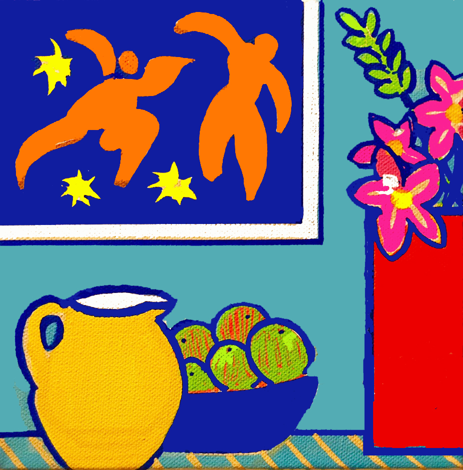 Still Life After Matisse,  Acrylic Ink