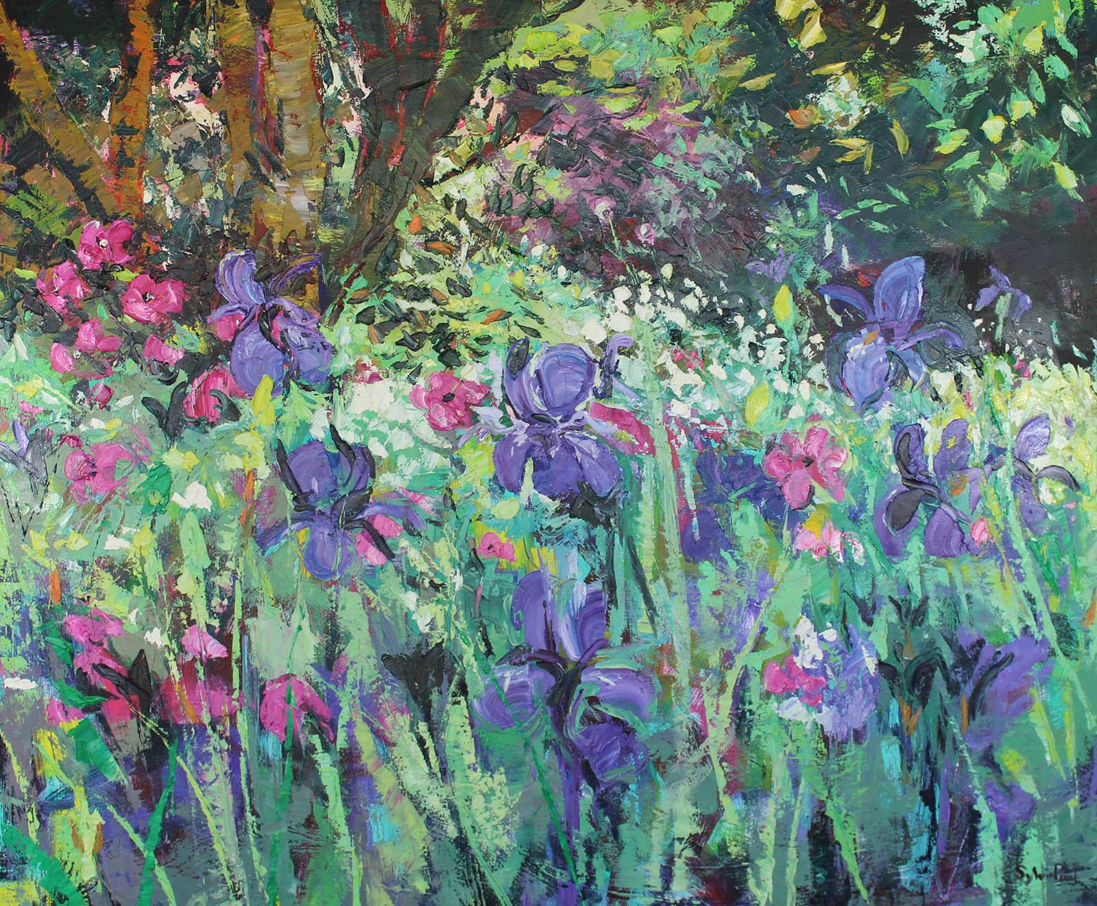 Iris Garden , Oil, 120 x 100 cm