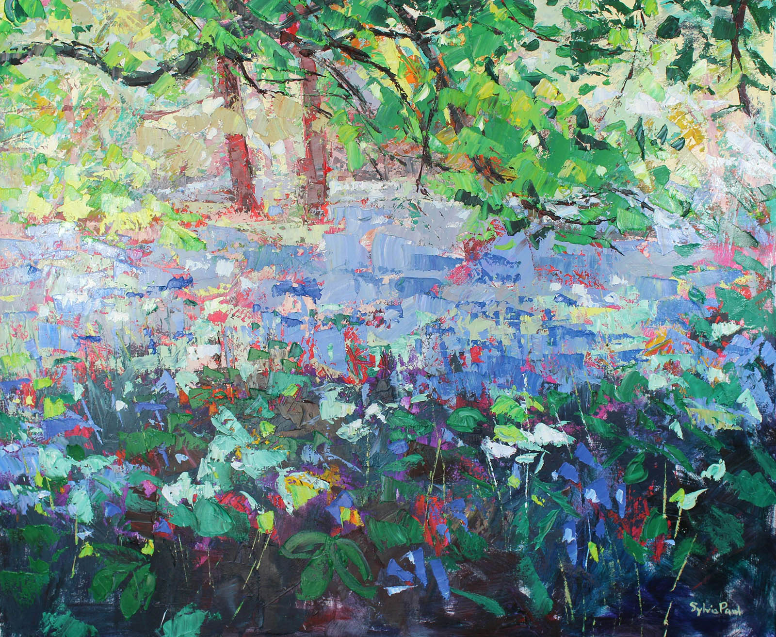 Carpet of Bluebells , Oil, 120 x 100 cm