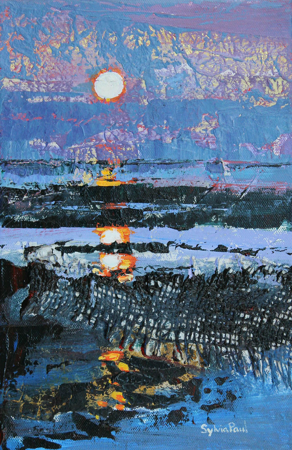 Moonrise , Mixed Media, 20 x 30 cm