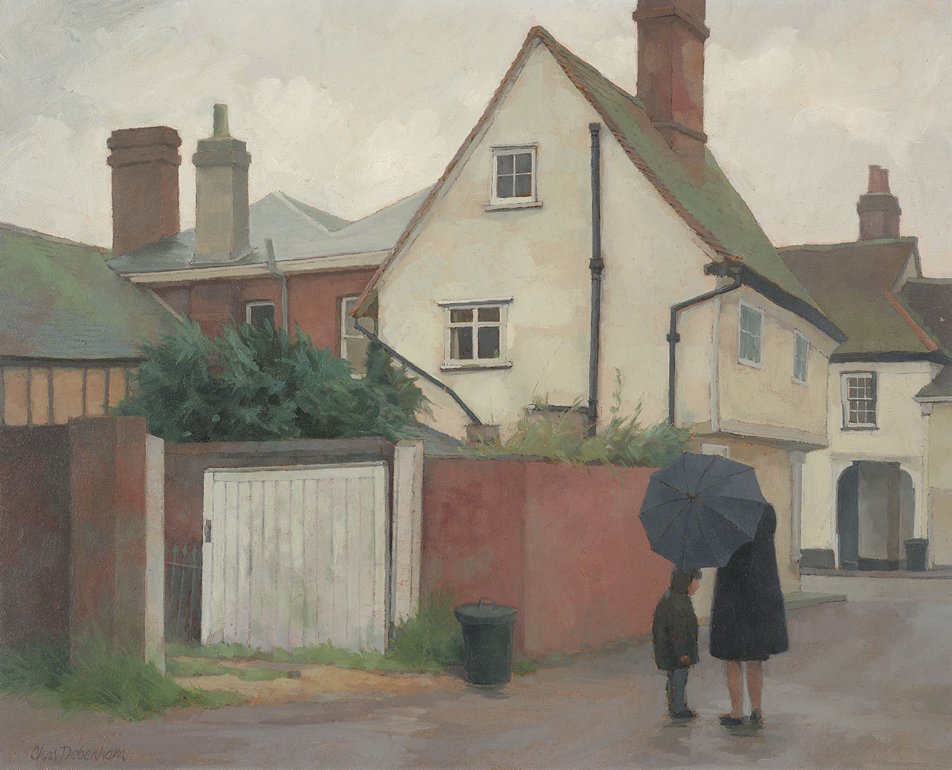 Charles Debenham NDD (b. 1933)    Nayland,  1980, Oil on board, 8 x 10 in, Signed  [CAS 49] Acquired in 1980