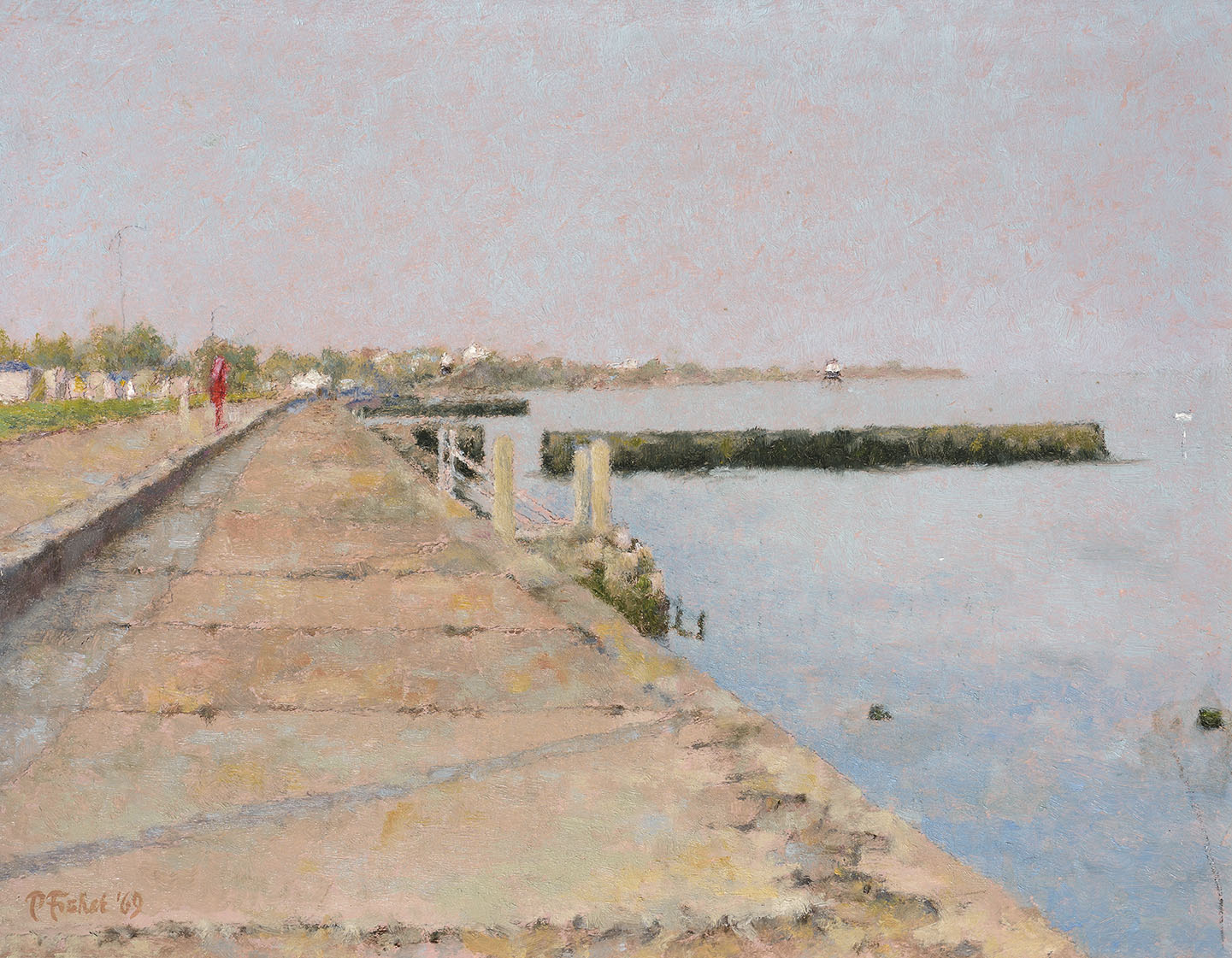 Patrick Julian Fisher (1930-1987)    High Summer, Dovercourt Promenade,  1969, Oil on board, 10 x 13 in, Signed and dated  [CAS 34] Acquired in 1977