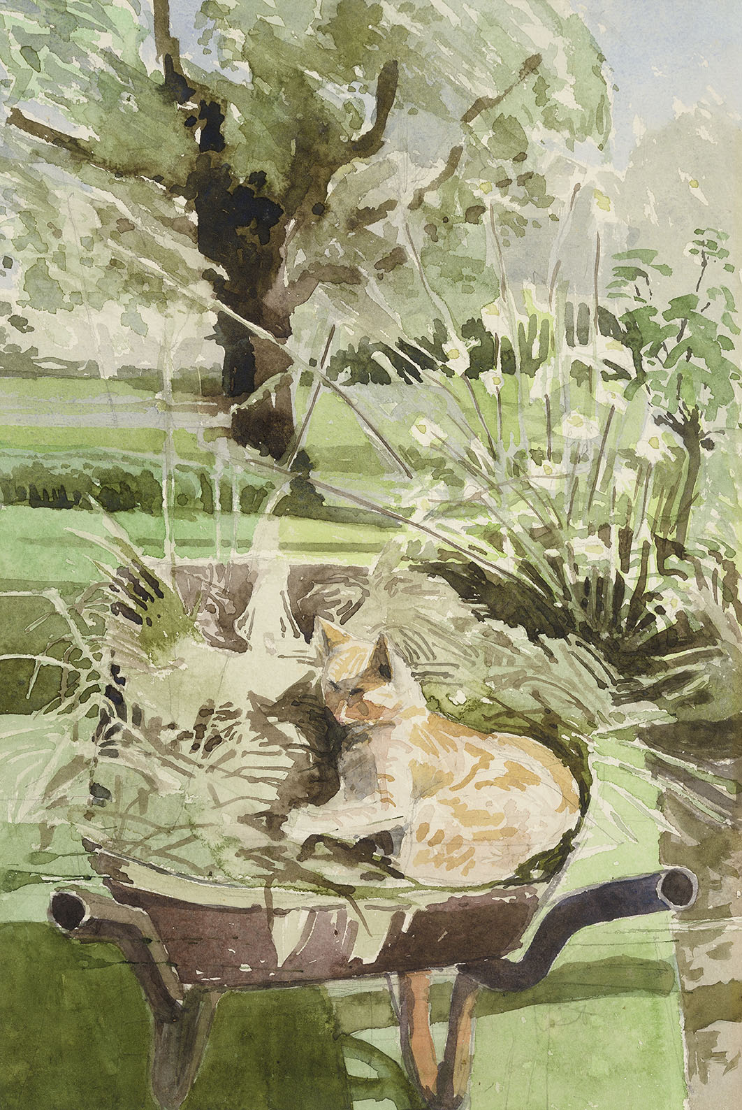 Timothy Holding (b. 1940)    Ruskin in the Barrow,  1978, Watercolour on paper, 14 x 9 ½ in  [CAS 37] Acquired in 1980