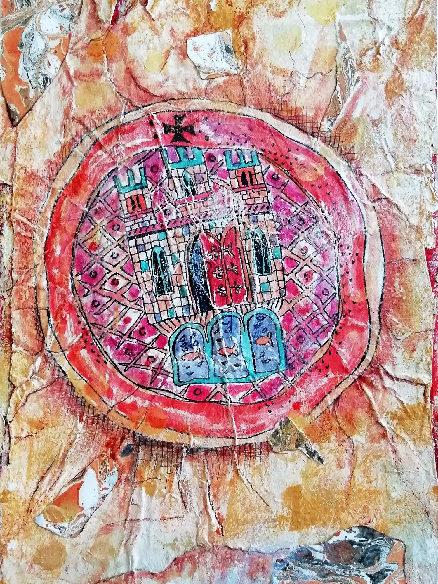 Colchester Seal , Mixed media, 20 x 26 cm