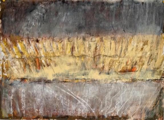 Autumn Field , Oil on paper, 76 x 56 cm