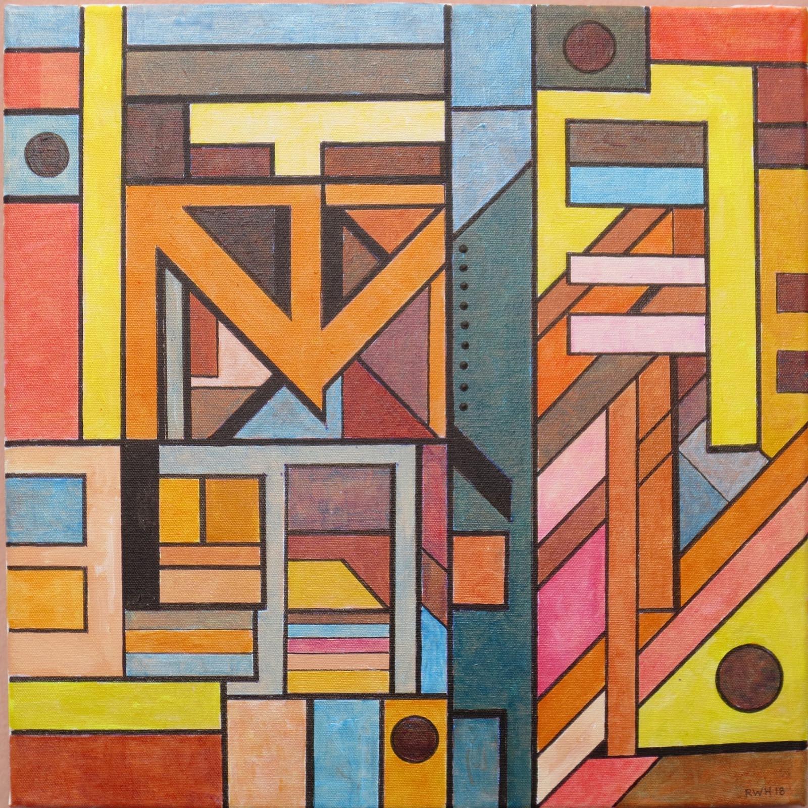 Harbour Rhythms 6 , Acrylic, 40 x 40 cm