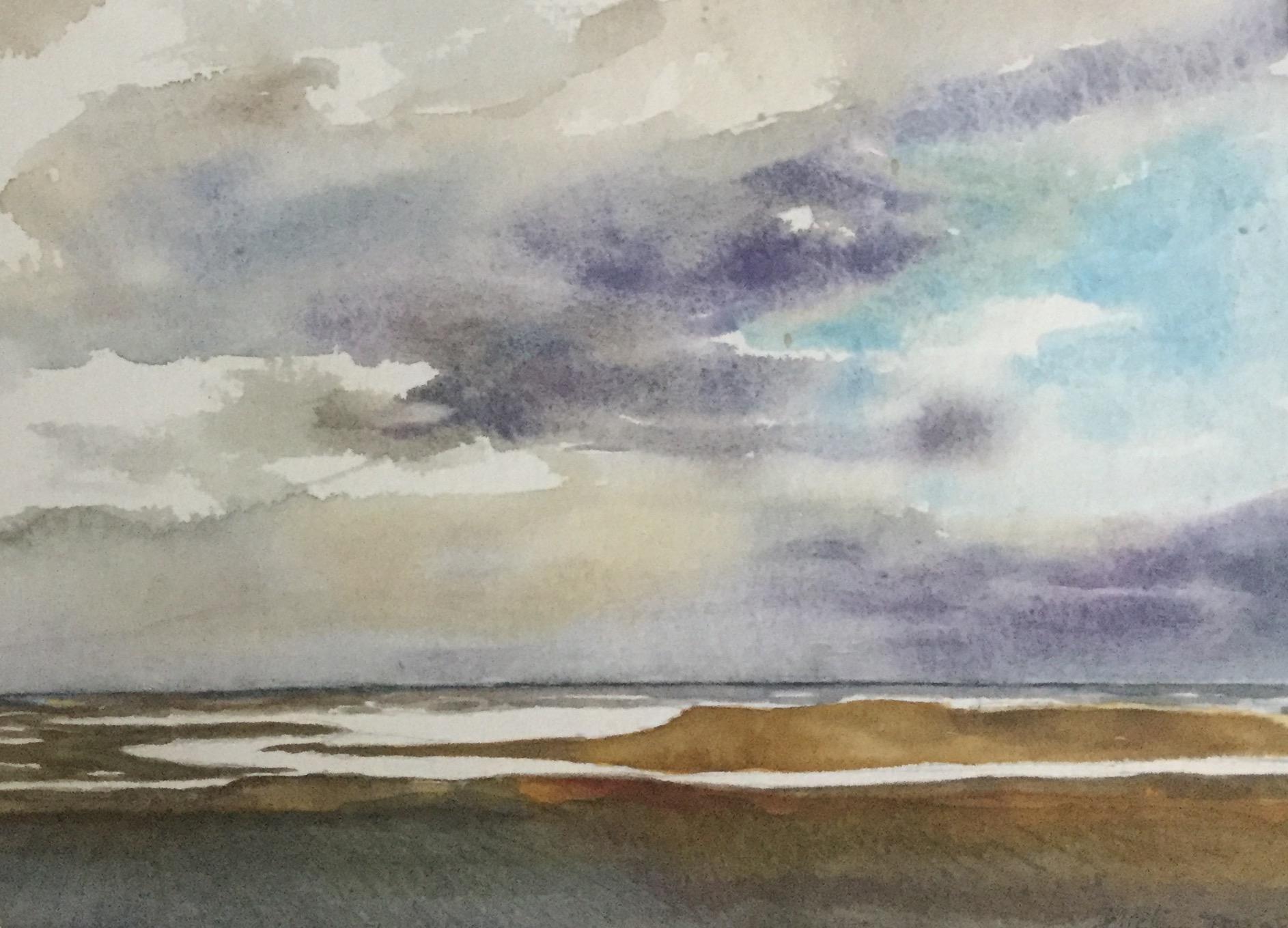 Walton Backwaters , Watercolour, 26 x 35 cm
