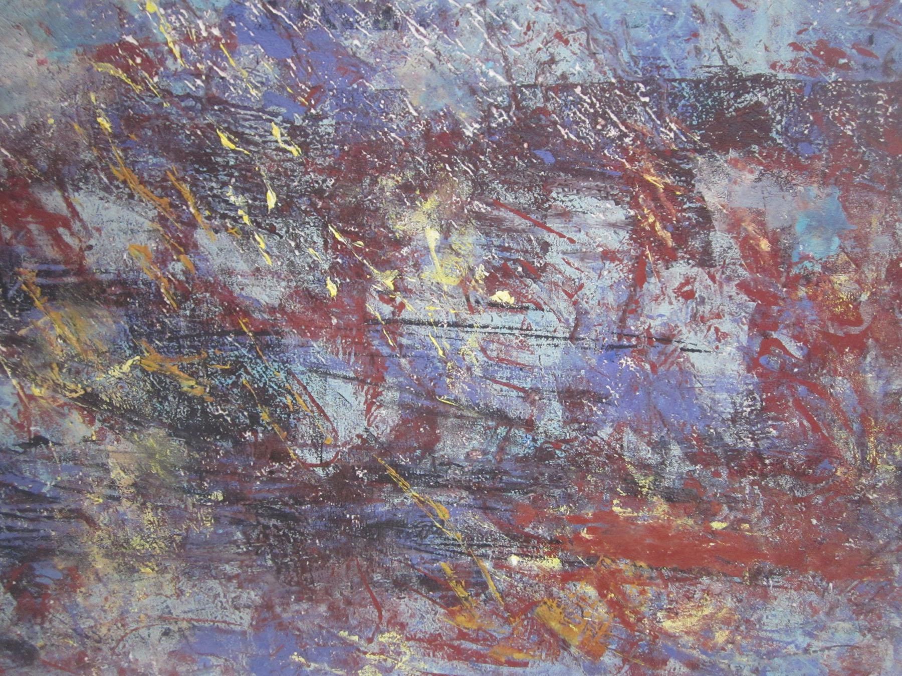 Sienna and Black , Monoprint, 33 x 40 cm