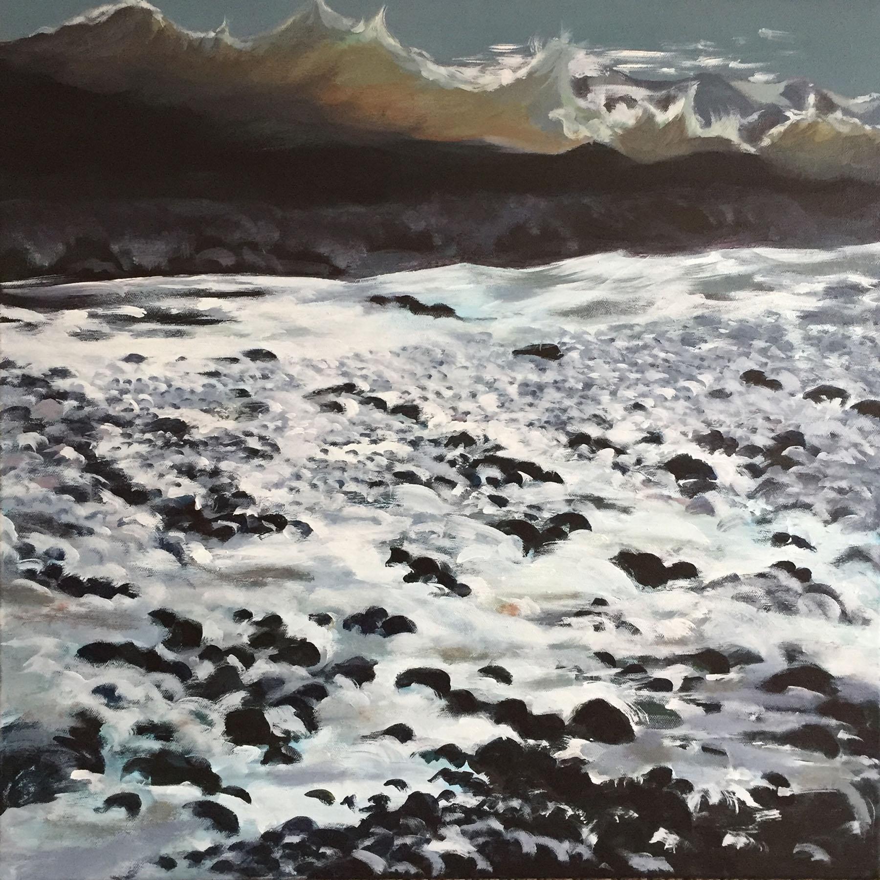 Aldeburgh Wave , Acrylic on canvas, 61 x 61 cm